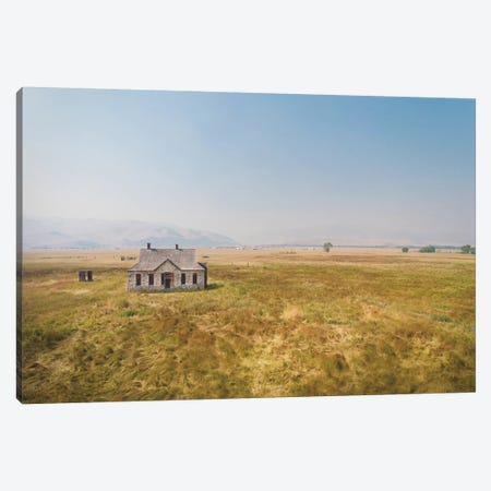 Stone House Canvas Print #ABA90} by Little Cabin Art Prints Canvas Wall Art