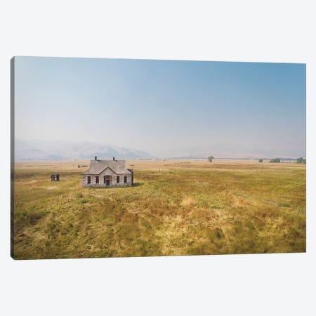 Stone House Canvas Print #ABA90} by Little Cabin Art Prints Canvas Wall Art