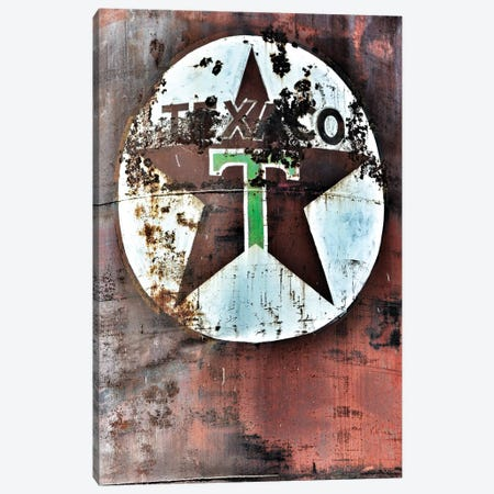 Texaco Canvas Print #ABA92} by Little Cabin Art Prints Canvas Wall Art