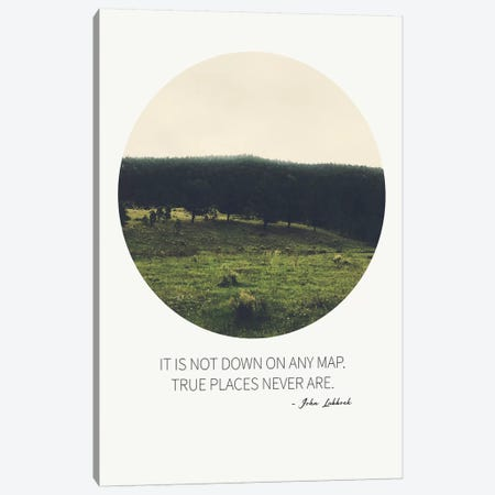 True Places Canvas Print #ABA99} by Little Cabin Art Prints Canvas Artwork