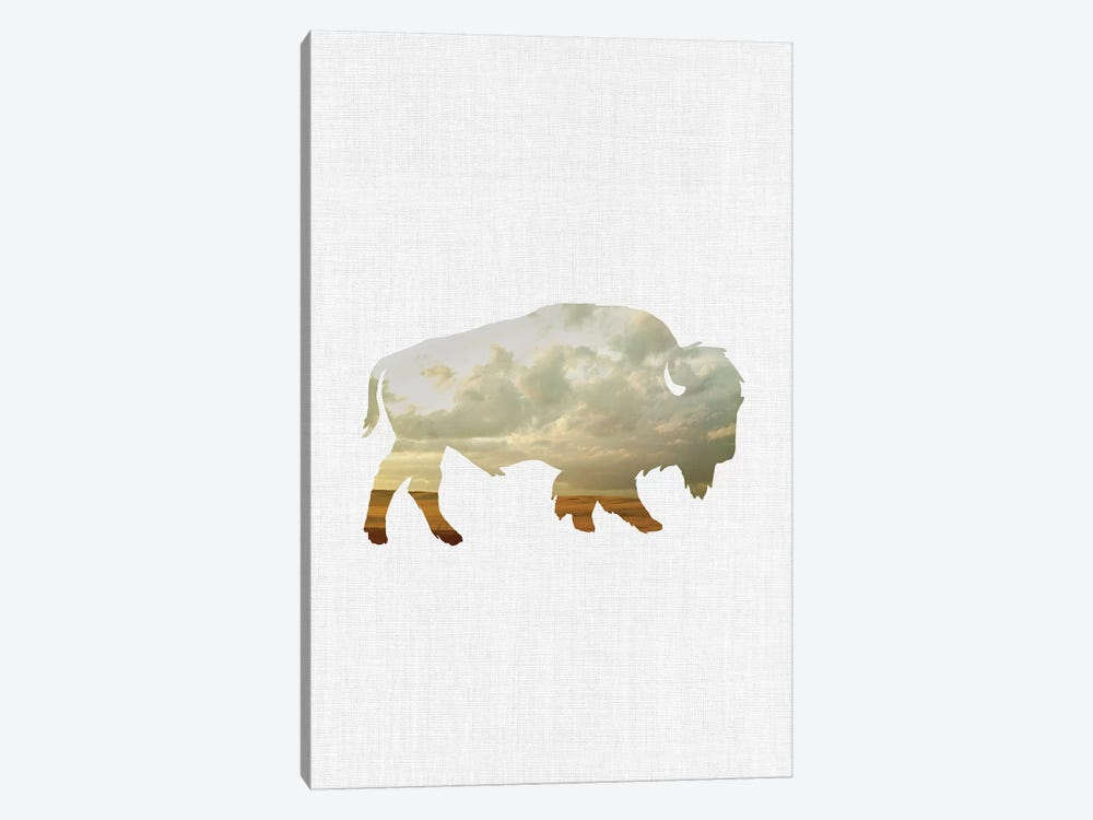 Bison And Plains by Little Cabin Art Prints 1-piece Canvas Artwork