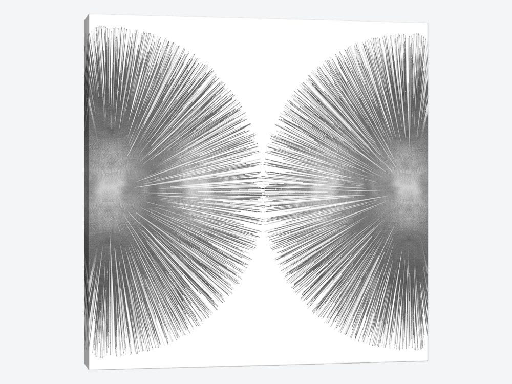 Silver Sunburst II by Abby Young 1-piece Canvas Art Print