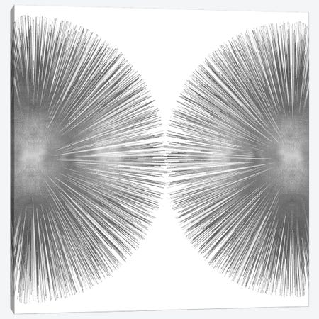 Silver Sunburst II 3-Piece Canvas #ABB11} by Abby Young Art Print