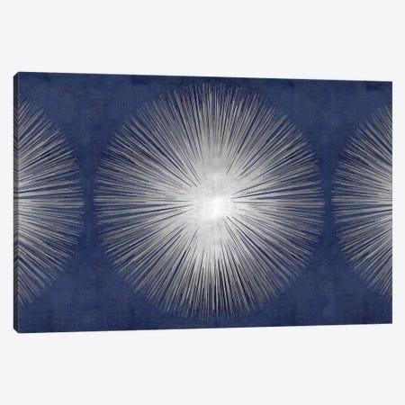 Silver Sunburst On Blue III Canvas Print #ABB14} by Abby Young Canvas Art