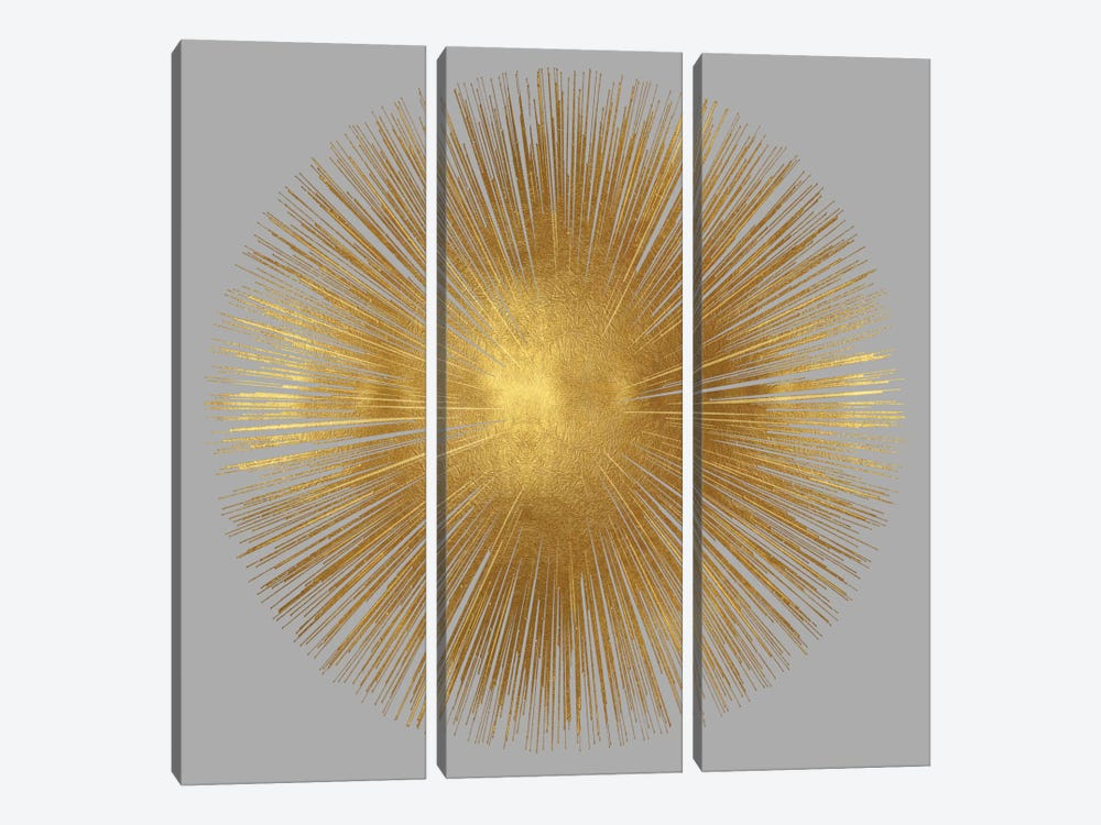 Sunburst On Grey I by Abby Young 3-piece Canvas Wall Art