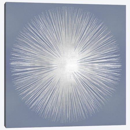 Silver Sunburst On Gray I Canvas Print #ABB23} by Abby Young Canvas Wall Art