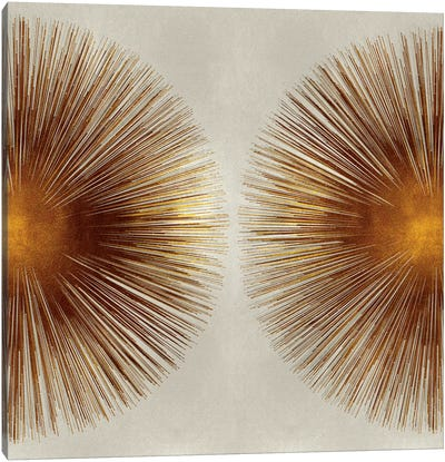 Bronze Sunburst II Canvas Art Print