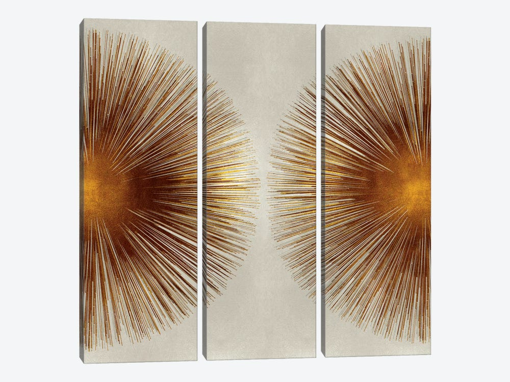 Bronze Sunburst II by Abby Young 3-piece Canvas Wall Art