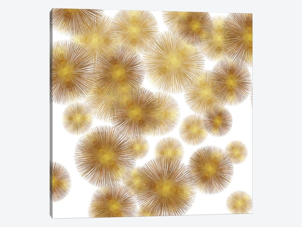Golden Sunbursts by Abby Young 1-piece Art Print