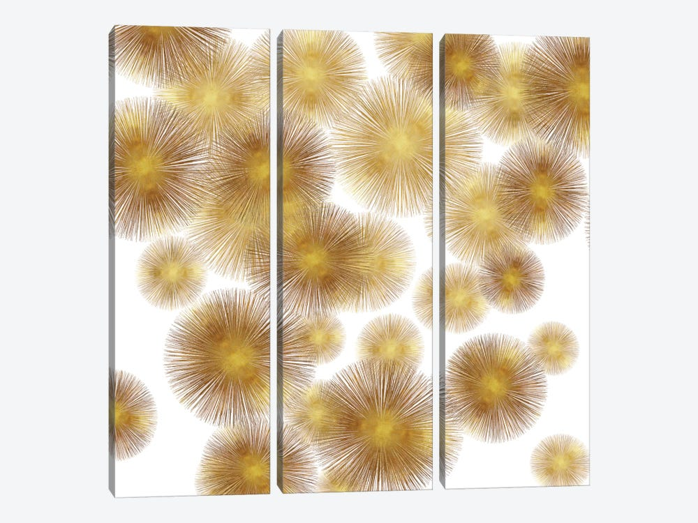 Golden Sunbursts by Abby Young 3-piece Canvas Print