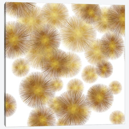 Golden Sunbursts 3-Piece Canvas #ABB5} by Abby Young Canvas Art Print