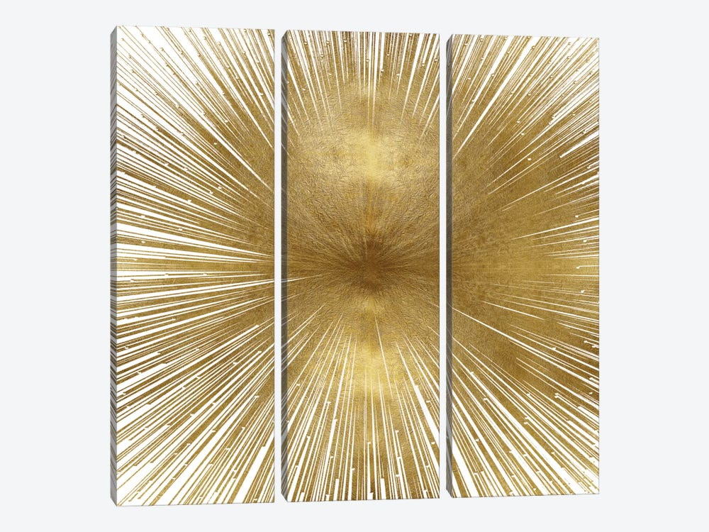 Radiant Gold by Abby Young 3-piece Canvas Wall Art