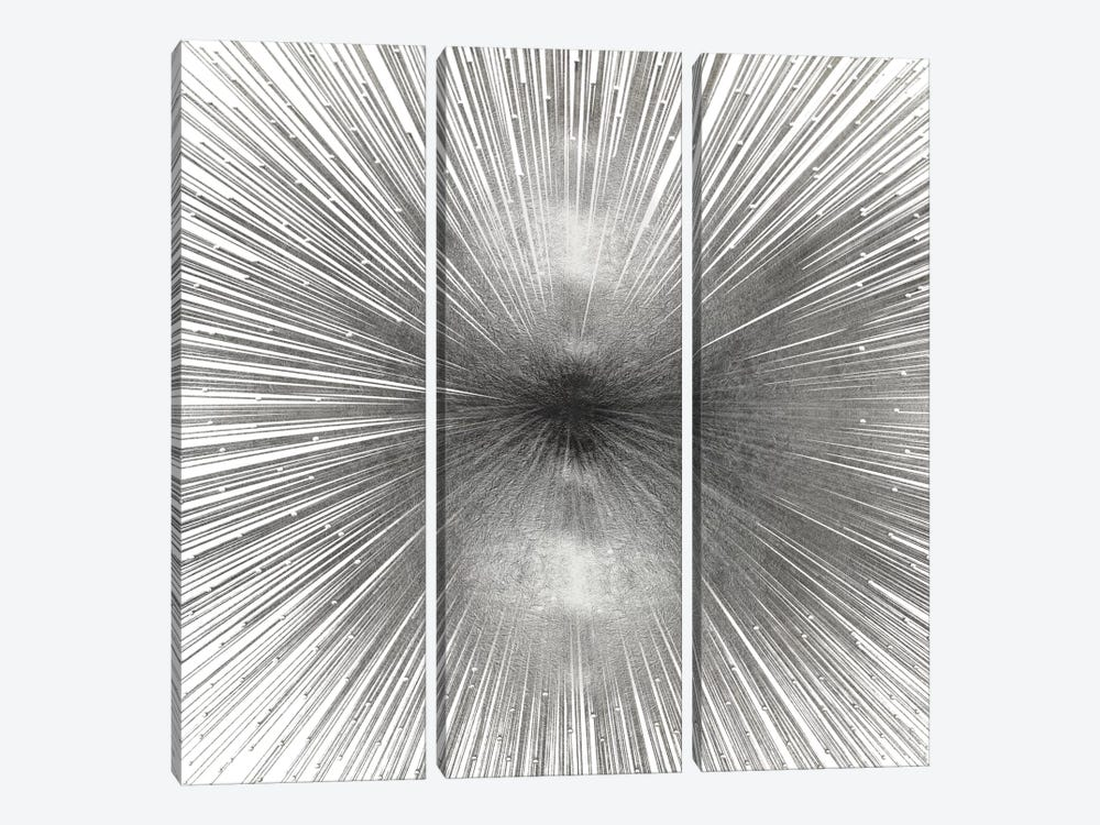 Radiant Silver by Abby Young 3-piece Art Print