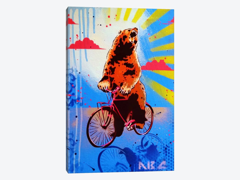 Bear Back Rider by AbcArtAttack 1-piece Canvas Artwork