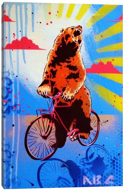 Bear Back Rider Canvas Art Print