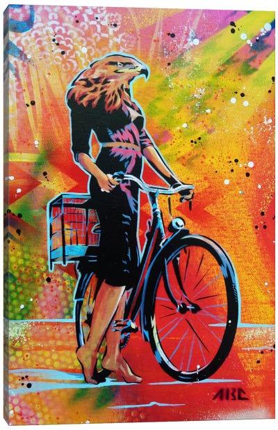 Cycle Soaring Canvas Art Print