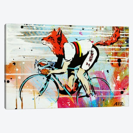 Le Fox Canvas Print #ABC3} by AbcArtAttack Canvas Print