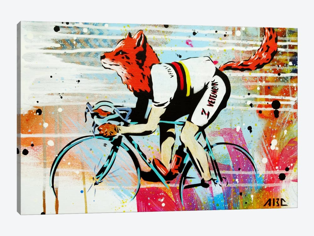 Le Fox by AbcArtAttack 1-piece Canvas Artwork