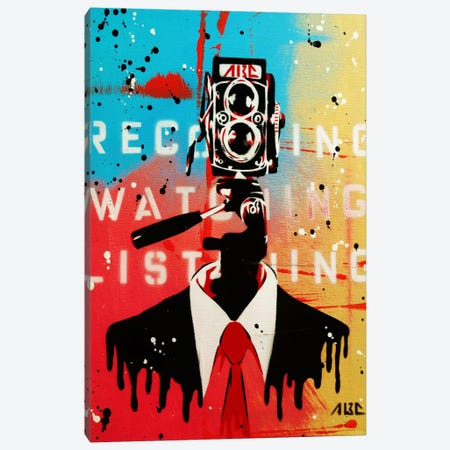 NSA Camera Man Canvas Print #ABC4} by AbcArtAttack Canvas Artwork