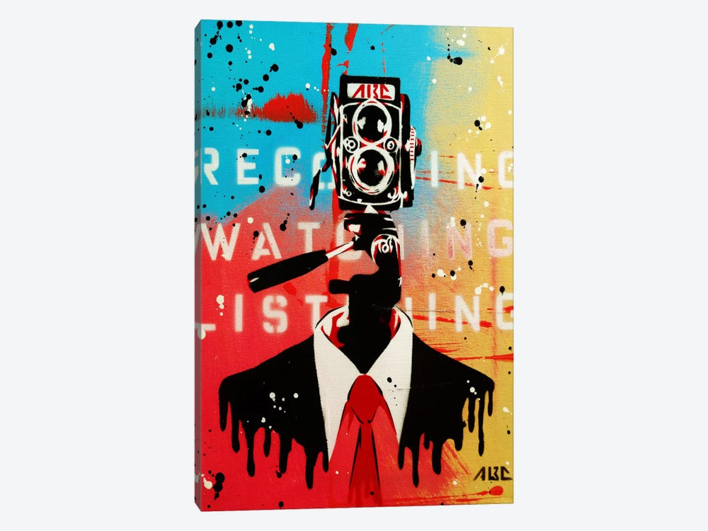 NSA Camera Man by AbcArtAttack 1-piece Canvas Art Print