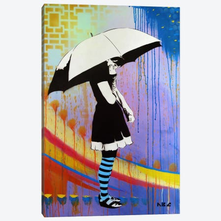 Waiting For The Rain Canvas Print #ABC7} by AbcArtAttack Canvas Art