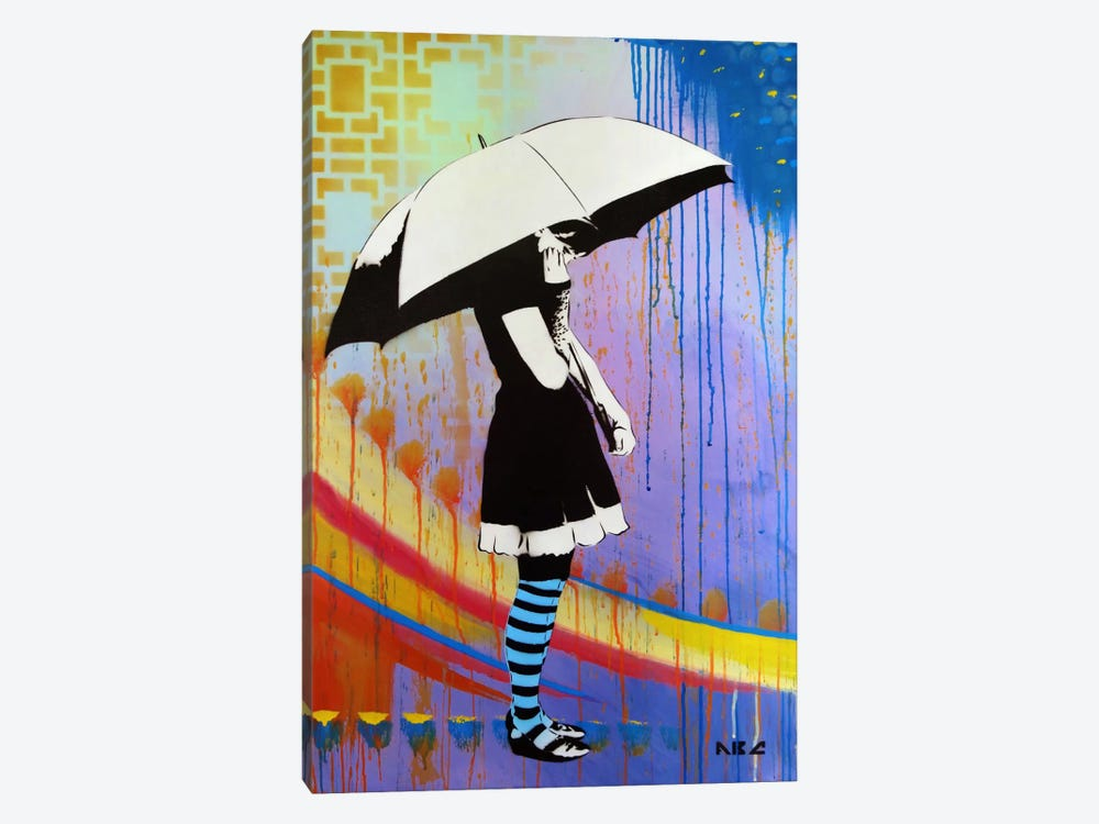 Waiting For The Rain by AbcArtAttack 1-piece Canvas Artwork