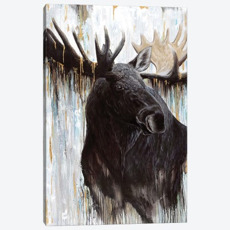 Gilded Moose Canvas Print #ABD10} by Angela Bawden Canvas Print
