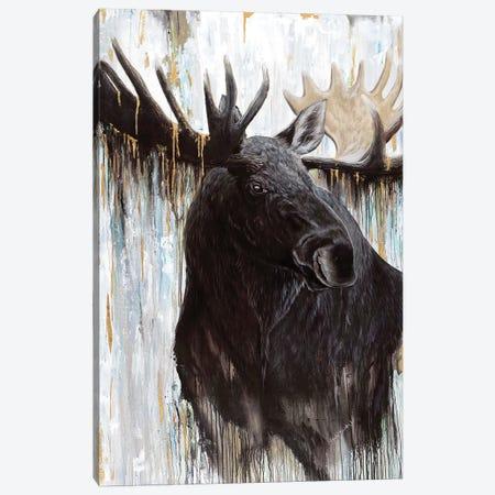 Gilded Moose Canvas Print #ABD10} by Angela Bawden Canvas Print