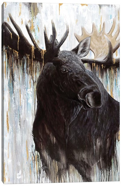 Gilded Moose Canvas Art Print
