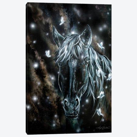 Horse And Butterflies Canvas Print #ABD12} by Angela Bawden Canvas Art Print