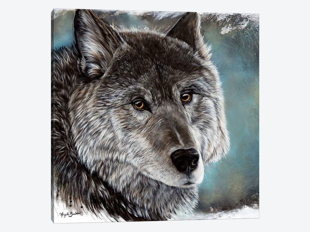 Loyal Spirit Wolf by Angela Bawden 1-piece Canvas Art Print