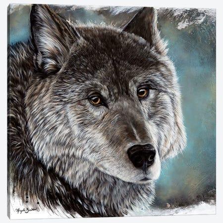 Loyal Spirit Wolf Canvas Print #ABD13} by Angela Bawden Canvas Art Print