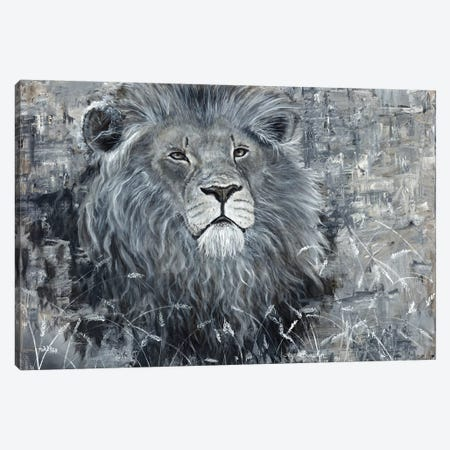 Power Of The Pride Lion Canvas Print #ABD19} by Angela Bawden Canvas Art Print