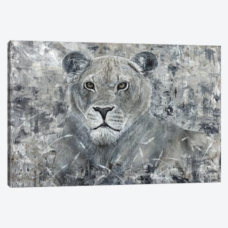 Power Of The Pride Lioness Canvas Print #ABD21} by Angela Bawden Canvas Wall Art