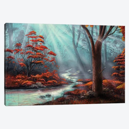 Serenity Forest Canvas Print #ABD23} by Angela Bawden Canvas Art