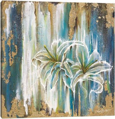 Beach Lilies Canvas Art Print