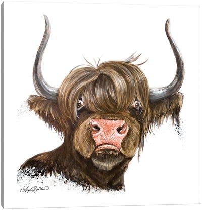 Clarabelle The Highland Cow Canvas Art Print