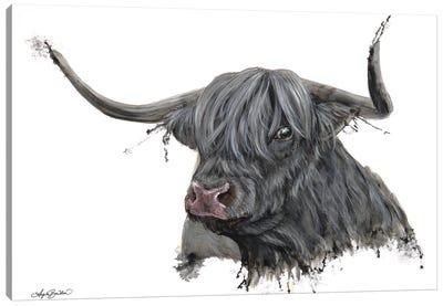 Ethel The Highland Cow Canvas Art Print