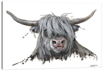 Lucy The Highland Cow Canvas Art Print