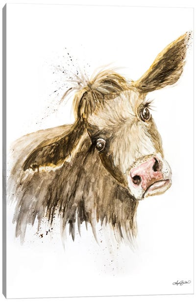 Miles The Cow Canvas Art Print