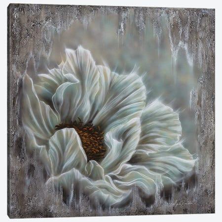 Minty Blue Peony Canvas Print #ABD46} by Angela Bawden Canvas Art Print