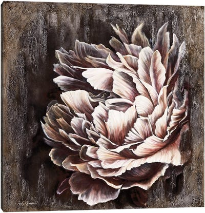 Pale Peony Canvas Art Print