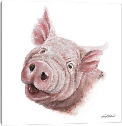 Penny The Pig Canvas Art Print