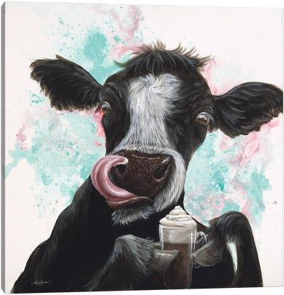 Moo Latte Canvas Art Print