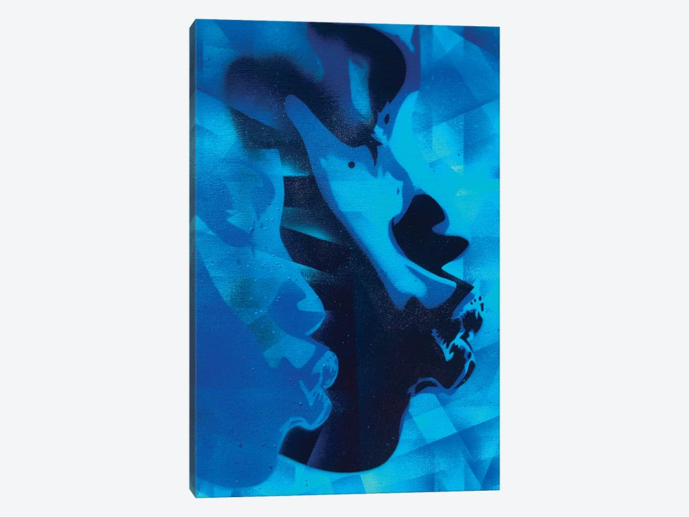 Graphic Kiss by Abstract Graffiti 1-piece Canvas Artwork