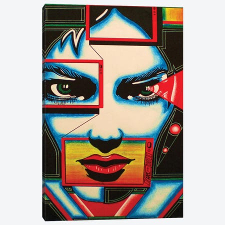 I'm Watching You Canvas Print #ABG115} by Abstract Graffiti Canvas Art