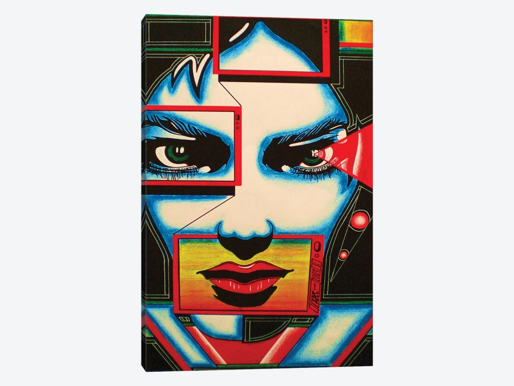 I'm Watching You by Abstract Graffiti 1-piece Canvas Print