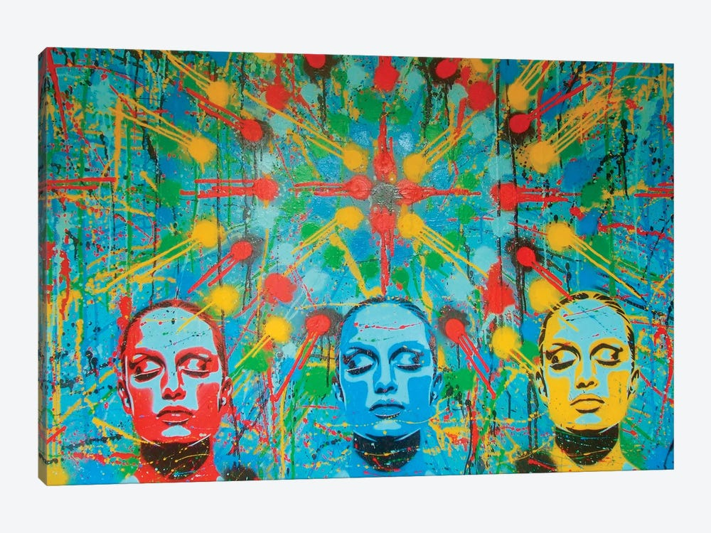 Kaleidoscope Dreamers by Abstract Graffiti 1-piece Canvas Art