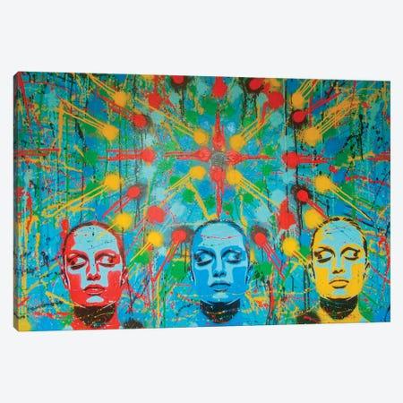 Kaleidoscope Dreamers Canvas Print #ABG121} by Abstract Graffiti Canvas Wall Art