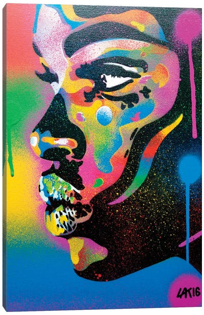 Kiss Series II Rainbow Canvas Art Print